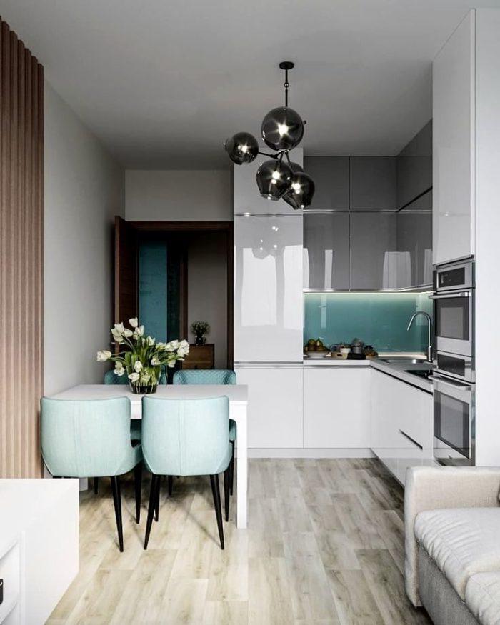 Design av inbyggt kök