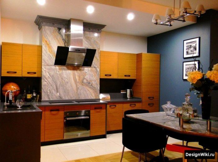 Silver 3d fasad av inbyggt kök