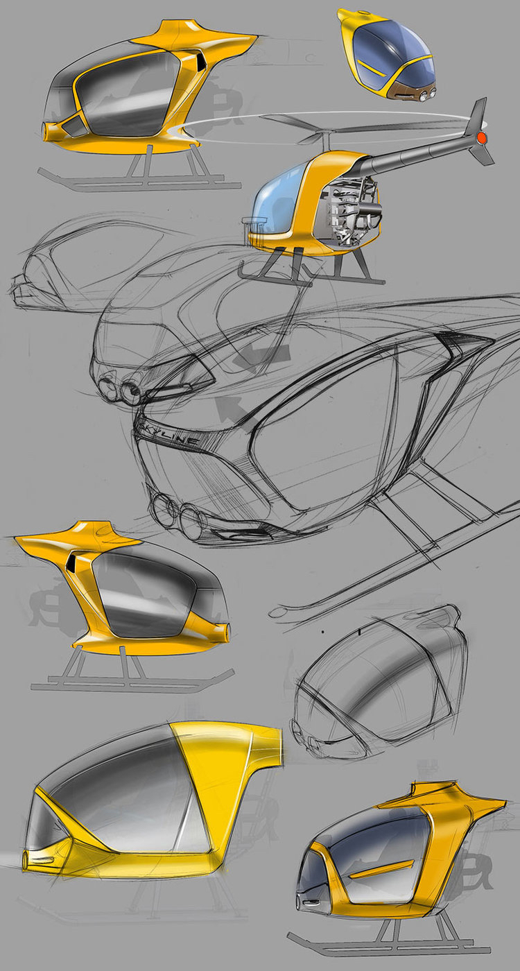 redesign encompassed a new plastic nose that cuts the silhouette and makes the helicopter look more adventurous