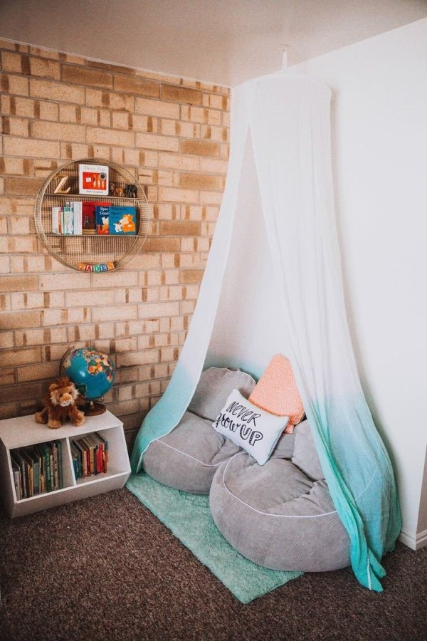 Kids covered reading corner