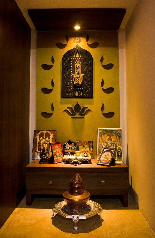 Pooja room wall decoration