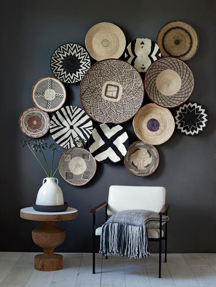 baskets-wall-decor-unusual items on walls