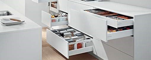 Roll out drawers kitchen