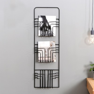 Nordic style Wire wall mounted Modern Magazine Rack