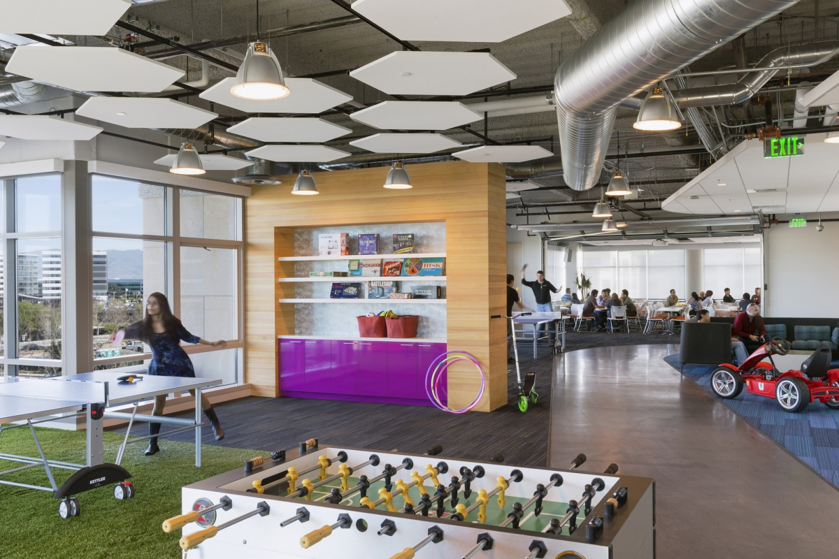 Recreation spaces modern office design trends