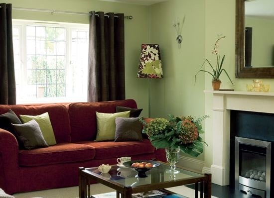 Green and Red Interior Style