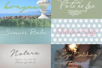 20 Beautiful Handwritten Script Fonts - FREE and premium font showcase on DesignYourOwnBlog.com