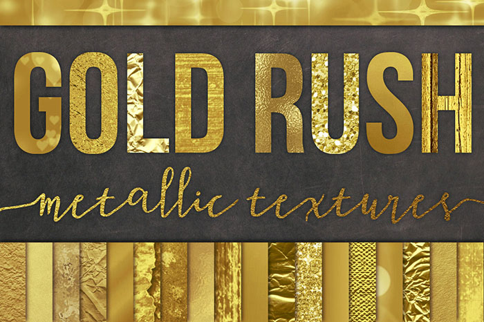 Tutorial: How to add a golf leaf or glitter texture to your blog graphics. Add it to text, shapes, icons or patterns! Super easy!! Plus download my free gold foil and gold glitter social media icon sets! Gold Rush Metallic Textures by Studio Denmark. Check it out on www.designyourownblog.com!