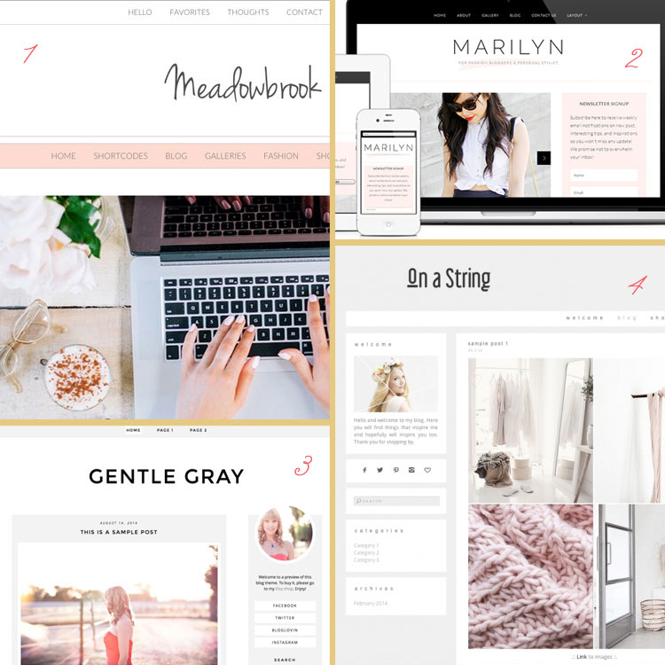 Black and pale fashion blog is a blog design trend for 2015. See more trends at www.DesignYourOwnBlog.com!