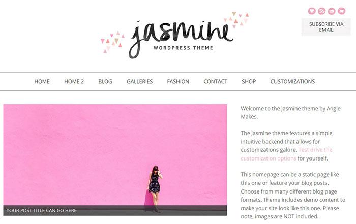 Geometrics are a blog design trend for 2015. See more trends at www.DesignYourOwnBlog.com!
