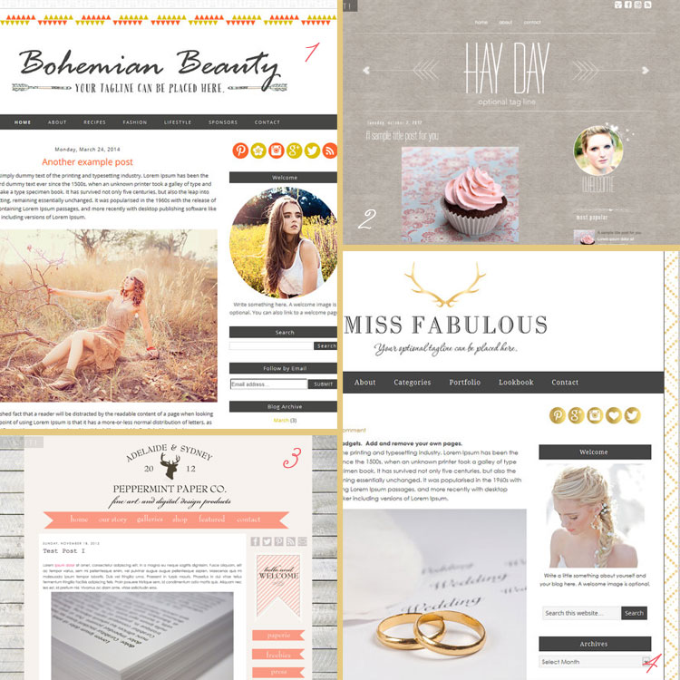 Tribal (and hipster) is a blog design trend for 2015. See more trends at www.DesignYourOwnBlog.com!