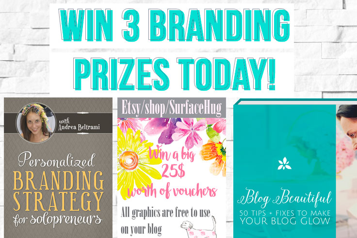 Win one of 3 amazing branding prizes today as day 2 of the DYOB relaunch party week! Missed today's giveaway? Come sign up and be notified of new giveaways every day this week!