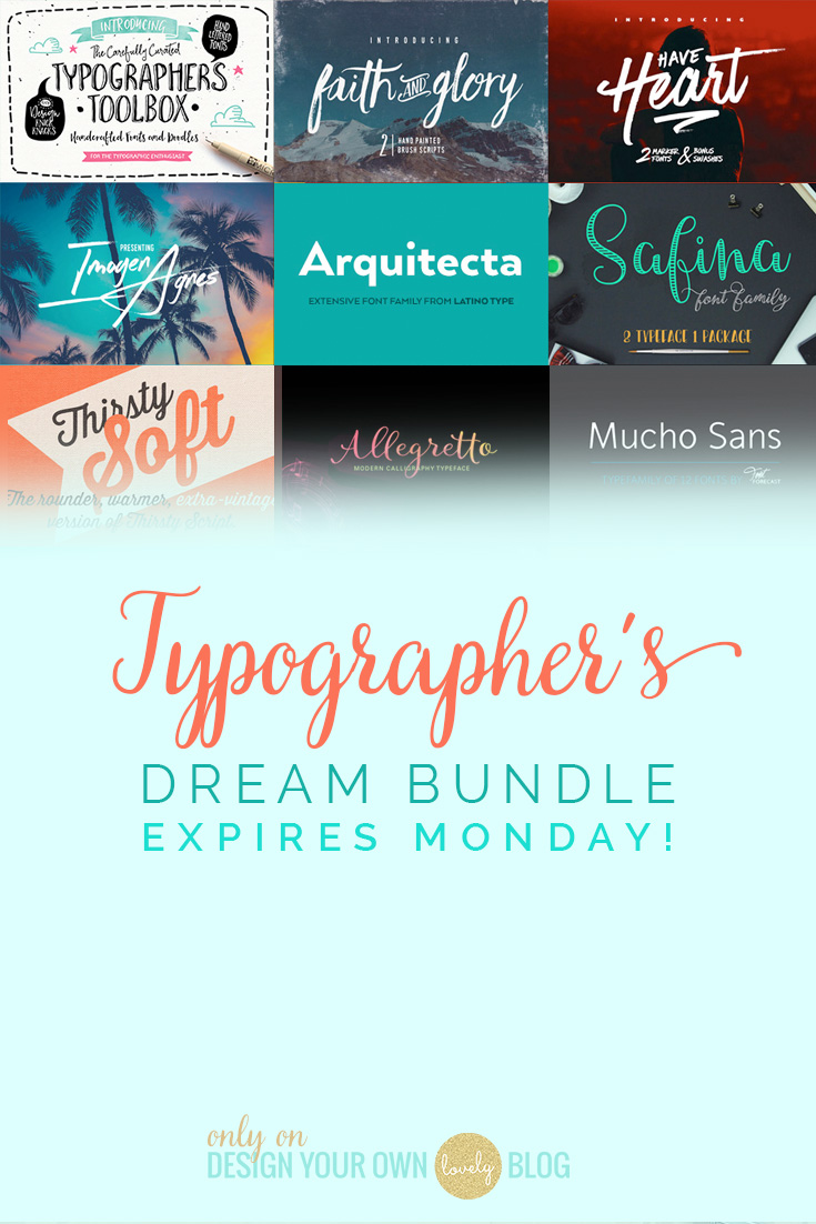 A typographer's dream bundle of fonts! Save 99% on 33 fonts!! expires soon!
