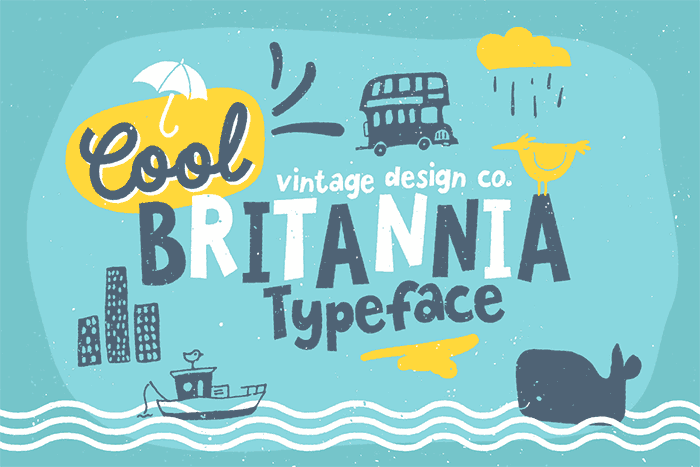 Cool Britannia by Ian Barnard, a fun hand-drawn, handwritten font. One of the font types I recommend for feminine designs in this roundup of 9 feminine font trends for 2016.