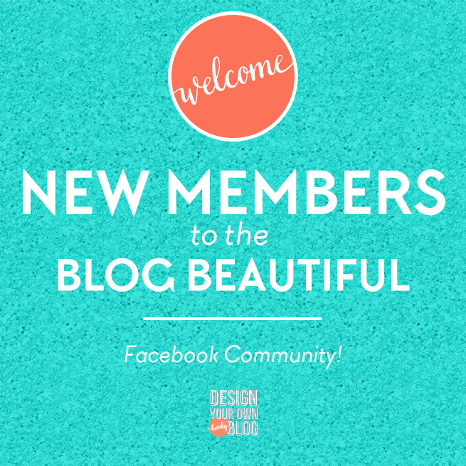 Blog Beautiful Facebook Community. A supportive space for DIY blog designers by www.DesignYourOwnBlog.com