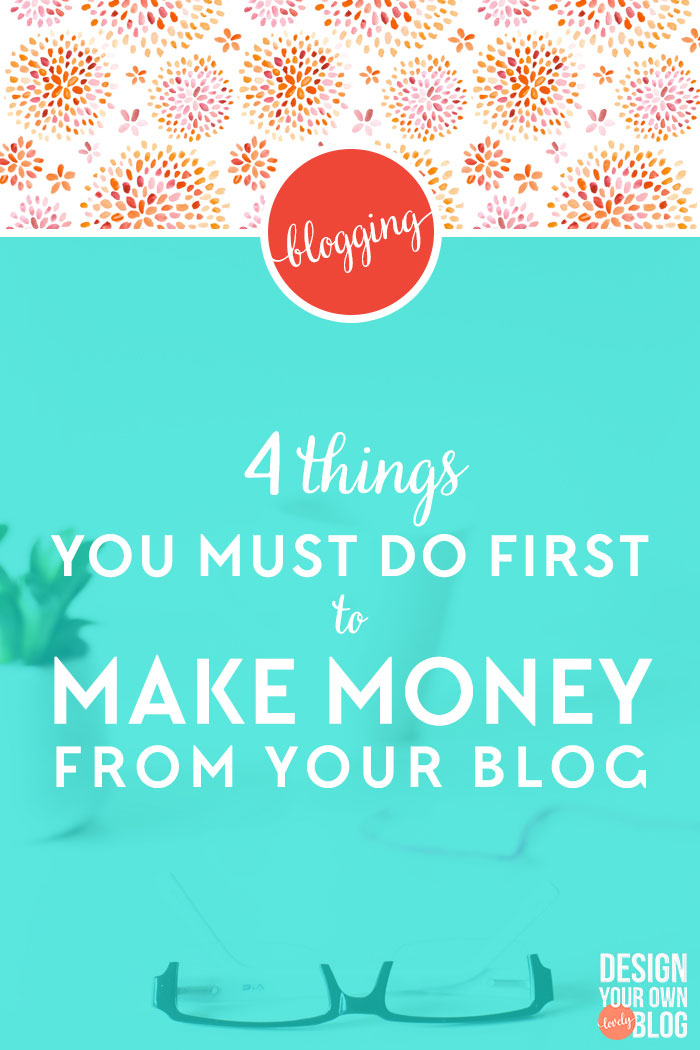 """4 Things You Must Do First to Make Money from Your Blog. It's not enough to just throw ads and affiliate links up. There are 4 very important things you must do first if you want to succeed at making money from your blog. photo credit: <a href=""""http://www.creativeconvex.com/"""" target=""""_blank"""">Creative Convex</a>"""