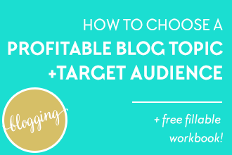 How to Choose a Profitable Blog Topic and Target Audience for your Blog. Plus download the free workbook to help you finally figure out what the heck to blog about! :) Only on www.DesignYourOwnBlog.com