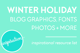 Winter Holiday Blog Graphics, Fonts, Photos and More