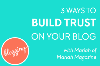 Building trust is one of the main factors for getting blog visitors to take action; whether that's signing up for an email list, purchasing a product, or simply filling out a contact form. Learn 3 ways to instantly build trust on your blog with your audience on DesignYourOwnBlog.com