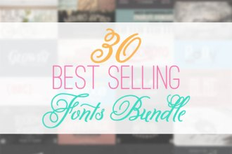 30 best selling fonts for $39 bundle!