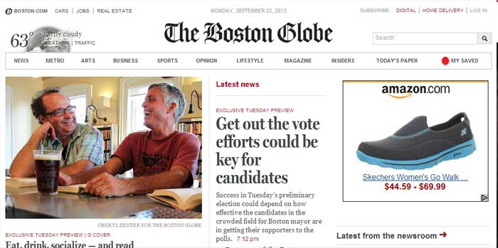 Responsive Web Design site case study on The Boston Globe