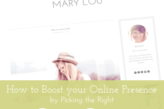 How to Boost your Online Presence by Picking the Right Themes and Templates