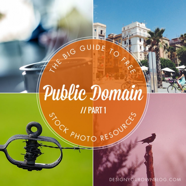 The Big Guide To Free Stock Photo Resources Part  Public Domain From Designyourownblog
