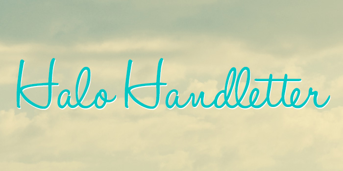 Halo Handletter is one of 20 Beautiful Handwritten Script Fonts on www.DesignYourOwnBlog.com