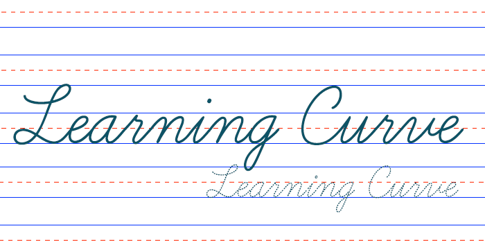 Learning Curve is one of 20 Beautiful Handwritten Script Fonts on www.DesignYourOwnBlog.com