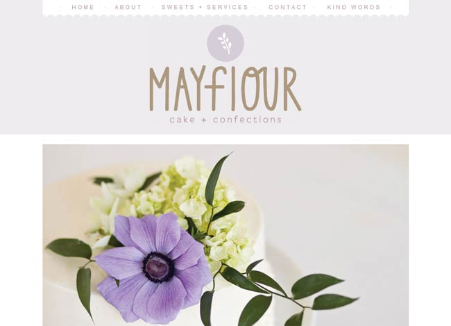 mayflourconfections.com - lilac is soft and feminine