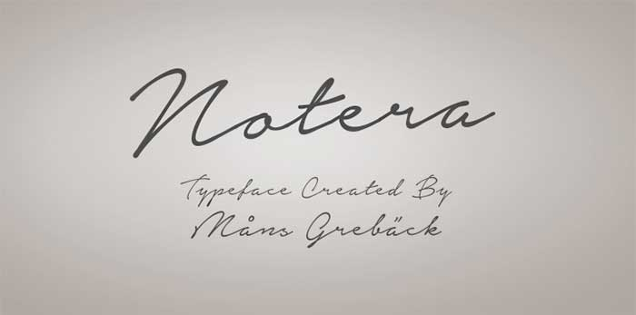 Notera Is One Of 20 Beautiful Handwritten Script Fonts On DesignYourOwnBlog