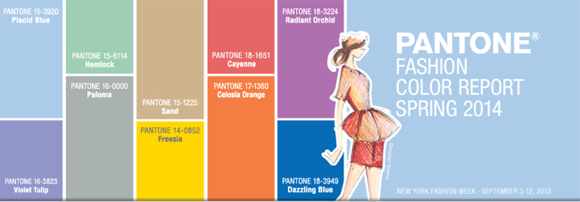 Pantone's color picks for spring 2014