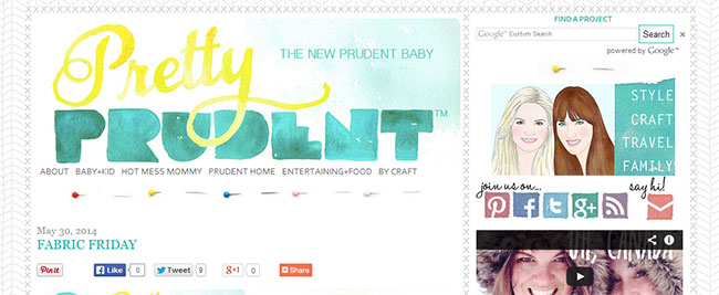 Pretty Prudent's logo is a bold example of watercolor lettering
