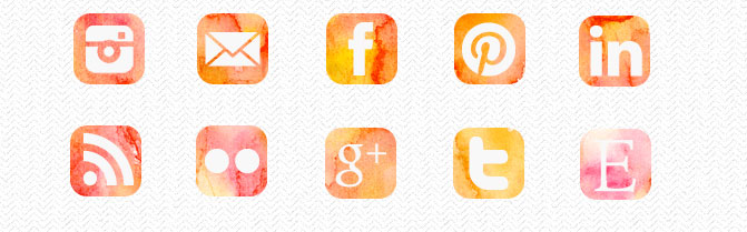 Prominently display social media icons in your blog sidebar. Want to learn what else you should and shouldn't have in your sidebar? Check out the sidebar series on DesignYourOwnBlog.com