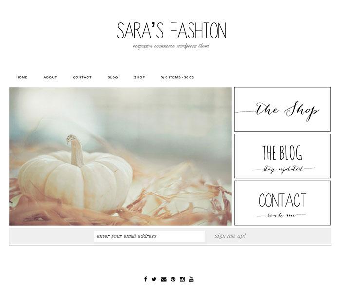 Sarah's Fashion eCommerce WordPress Theme by Themefashion