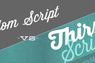 alt:Font-Fight: Wisdom Script vs Thirsty Script - www.designyourownblog.com