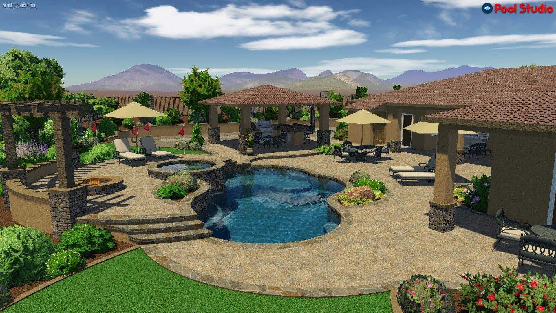 3d Rendering Samples Bella Terra Landscape Design