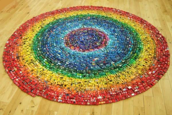 Un arc en ciel de 2500 voitures 2500 cars made wonderfull rainbow