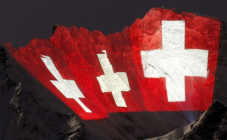 255 Weather Permits Light Show on Swiss Jungfrau Mountain for Second Time!