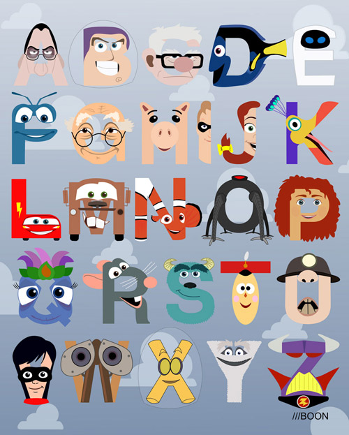 mike boon pixar Pixar Alphabet by Mike Boon