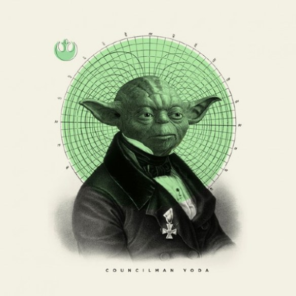 Old Fashioned Star Wars Illustrations Yoda 600x600 Old Time Star Wars Illustrations