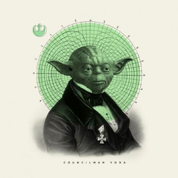 Old Fashioned Star Wars Illustrations Yoda 600x600 Old Time Star Wars Illustrations