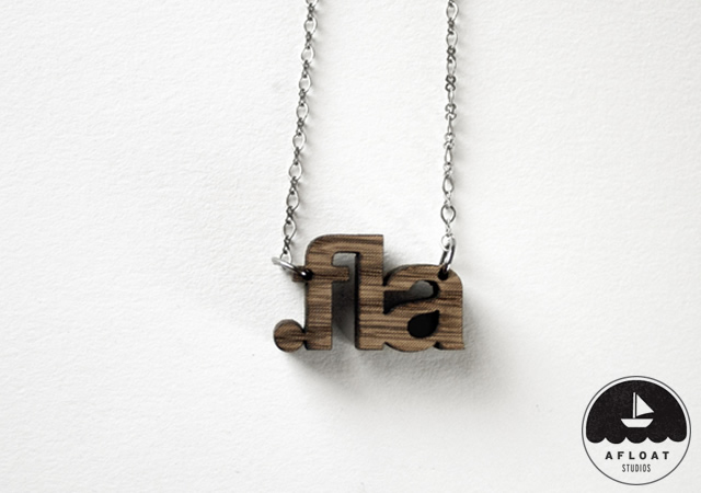 1o30 File Extension Necklaces by Afloat