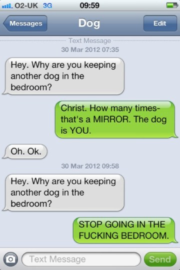 text from my dog other dog Text from my Dog
