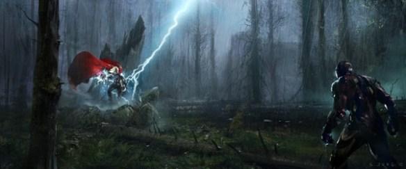 Avengers Concept Art Iron Man Thor Avengers Concept Art