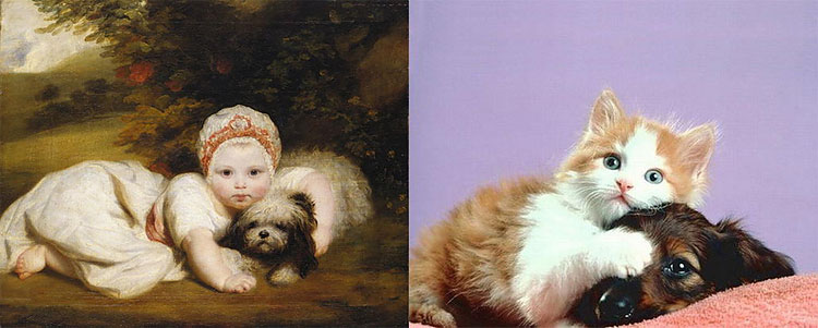 1912 The Copycats: Cats Imitating Famous Works Of Art