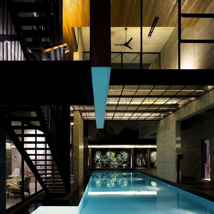 Pool 750x750 Singapore Residence Indoor Pool