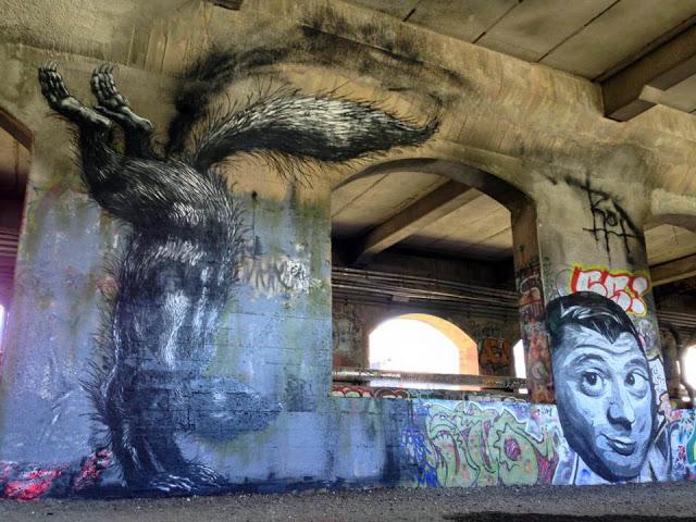 roa rochester usa 01 Streetart: ROA - New Murals in Rochester // USA and Malaga // Spain