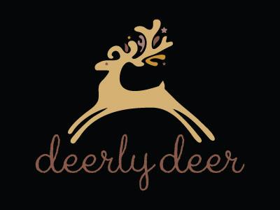 deerly deer logo Christmas & Holiday Inspired Logo Designs