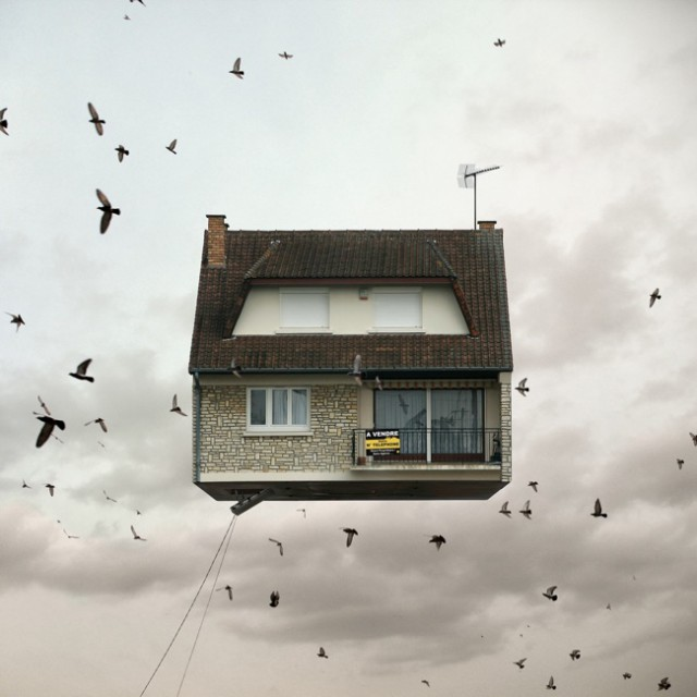 1357638971 2 640x640 Flying Houses by Laurent Chehere